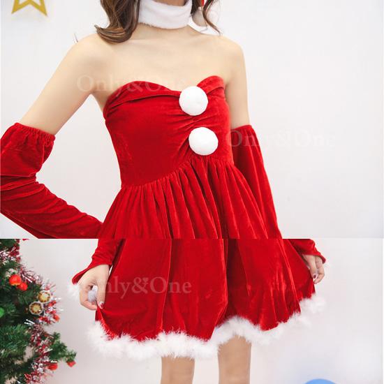 サンタ コスプレ めちゃカワ ワンピ Xmas サンタコ スチューム 衣装