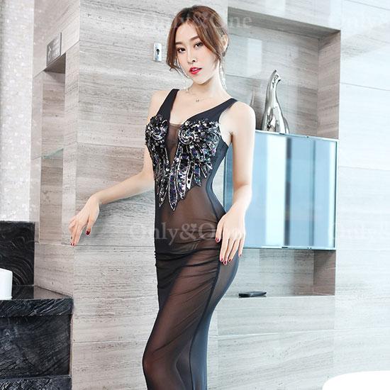 ボディコン セクシーワンピース ランジェリードレス シースルー イベントドレス 大人悩殺ドレス