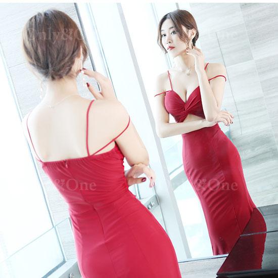 ボディコン セクシーワンピース 胸元強調ドレス キャバドレス パーティードレス イベントドレス