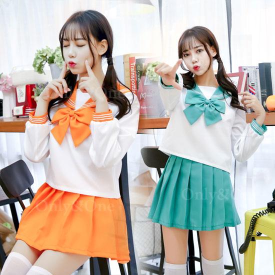 セーラー服 コスプレ 長袖 カラバリ 制服 オリジナルブランド 全13色