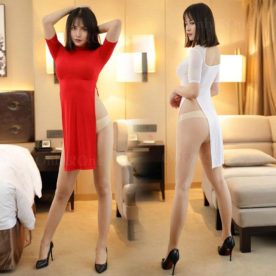 セクシーランジェリー サイドスリット スケドレス ベビードール 大人セクシー衣装 4カラー