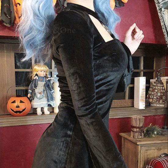 小悪魔 デビル少女 コスプレ ブラックワンピース コスチューム