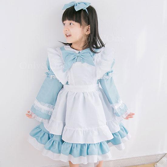 メイド コスプレ メイド服 ハロウィン 衣装 アリス 衣装  キッズ 子供 ドレス 子供服 ドレス子供 アリスドレス