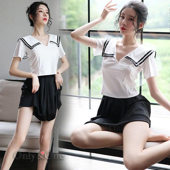 セーラー服 コスプレ シンプル清楚なセクシー  制服コスチューム