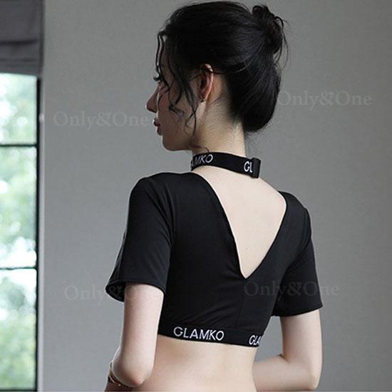 レースクイーン セクシーコスチューム セパレート ブラック 胸元 シースルー