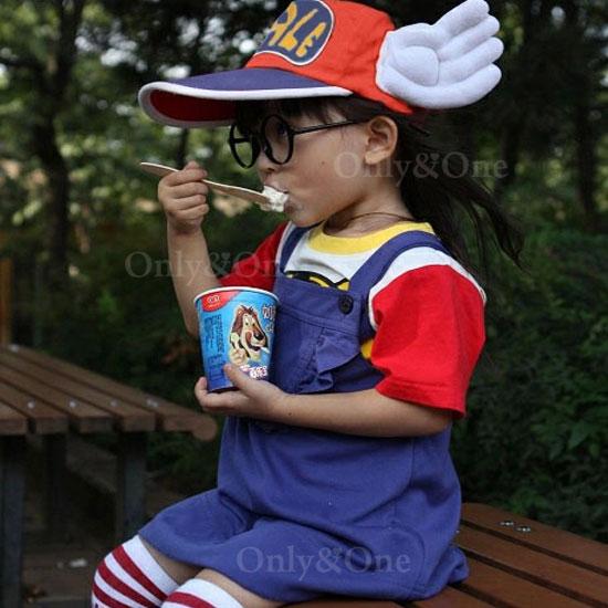 アラレちゃん コスプレ 衣装 Dr.スランプ あられちゃん なりきり 子供5点セット キッズ コスチューム パーティー ハロウイン変装