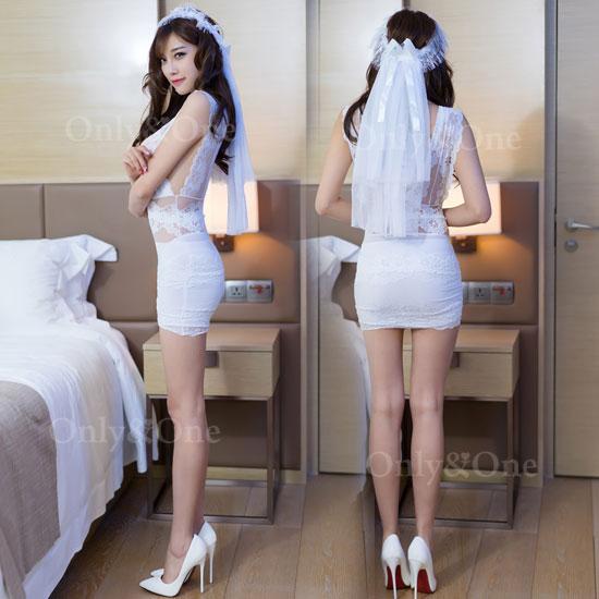 ウエディング ドレス セクシーランジェリーコスチューム セクシー 花嫁 コスプレ