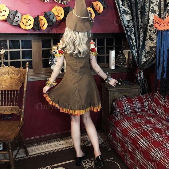 魔女コスプレ ハロウィンコスチューム 魔女っ子 ワンピース
