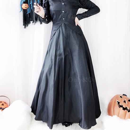 魔女コスプレ ハロウィンコスチューム ロングスカート クール魔女