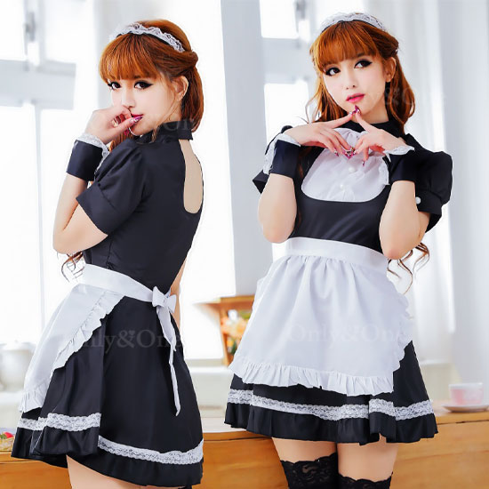 メイド コスプレ メイド服 衣装 定番でかわいい コスチューム 初心者さんにも超人気 キュートなふりるタイプ