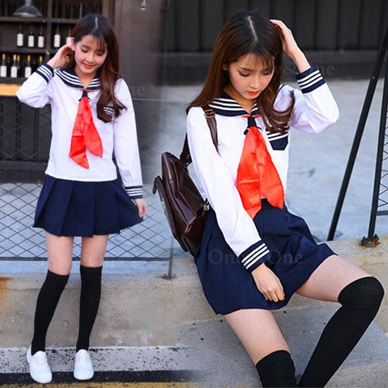 定番 セーラー服 コスプレ 女子高生 キュートな私服コスチューム