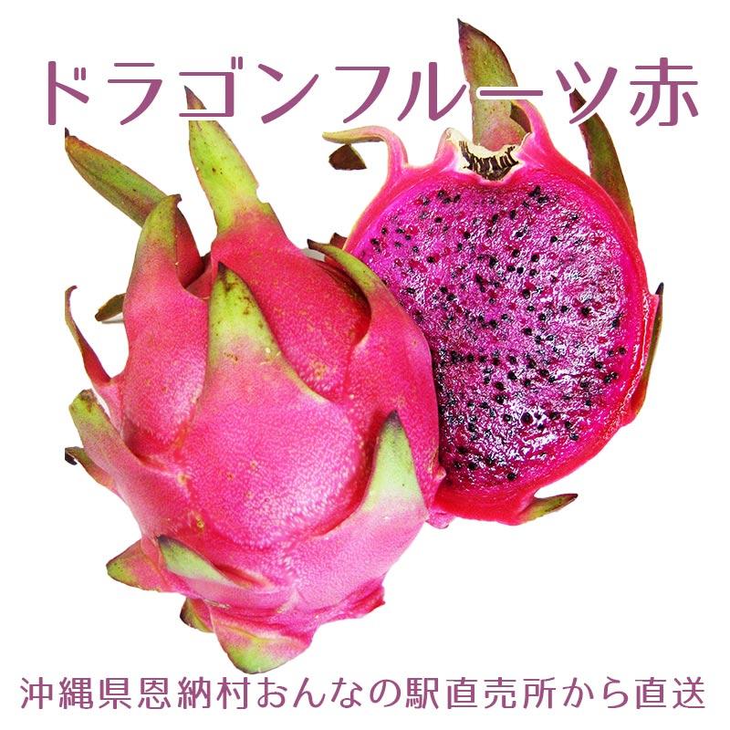 【2020年の販売は終了しました】沖縄県産ドラゴンフルーツ・ピタヤ 約1kg以上 2-6玉入り(赤)