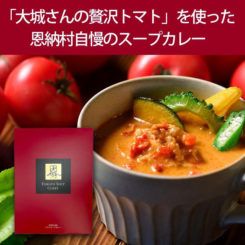 【MEGUMI】トマトスープカレー 大城さんの贅沢トマトを使った (おんなの駅オリジナル)