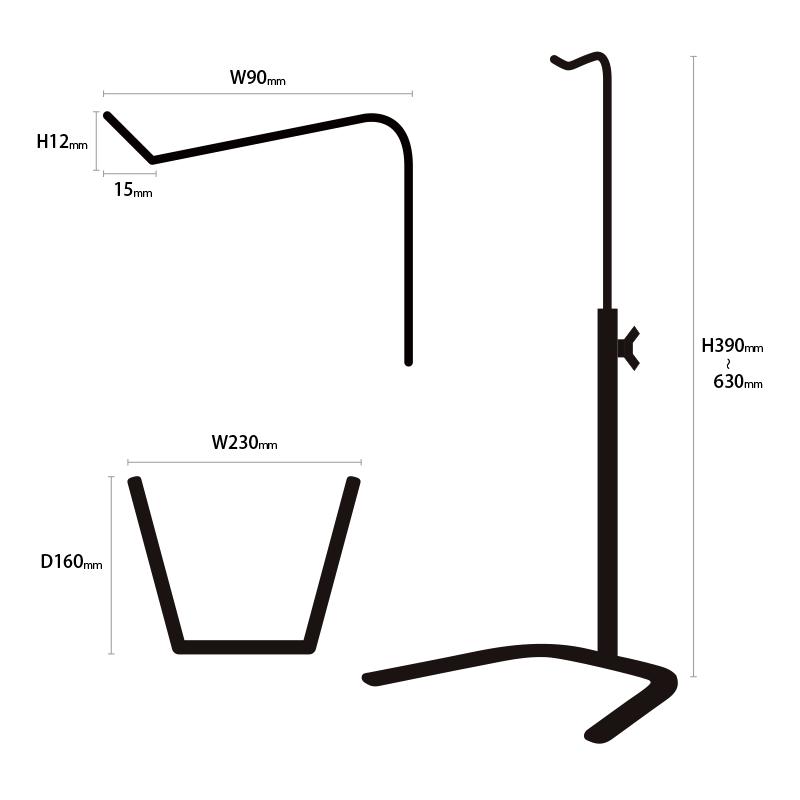 バッグスタンド蹄鉄タイプ