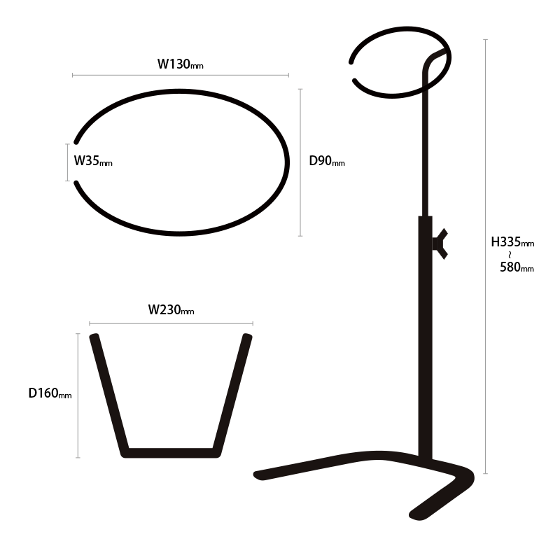 帽子スタンド蹄鉄タイプ