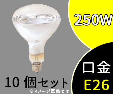 IR 220V 250WRH  (IR220V250WRH) 岩崎 赤外線電球:R形(レフ形) (10個セット)