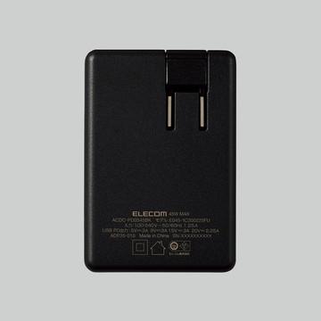 ACDC-PD0545BK [ ACDCPD0545BK ] 【エレコム】 PC電源アダプタ ノートPC用ACアダプタ- Type-C PD対応 45W Type-C1ポ-ト GaN(窒化ガリウム) ブラック