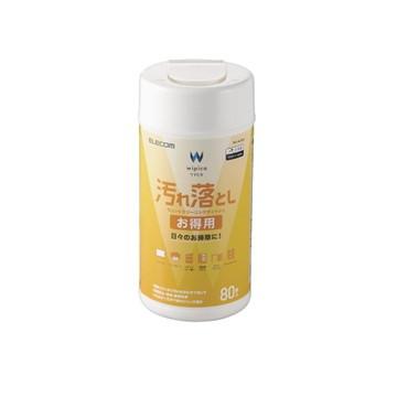 WC-AL80N [ WCAL80N ] 【エレコム】 ウェットティッシュ 汚れ落とし お得用 ボトル 80枚