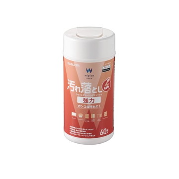 WC-JU60N2 [ WCJU60N2 ] 【エレコム】 ウェットティッシュ 汚れ落とし 強力 ボトル 60枚