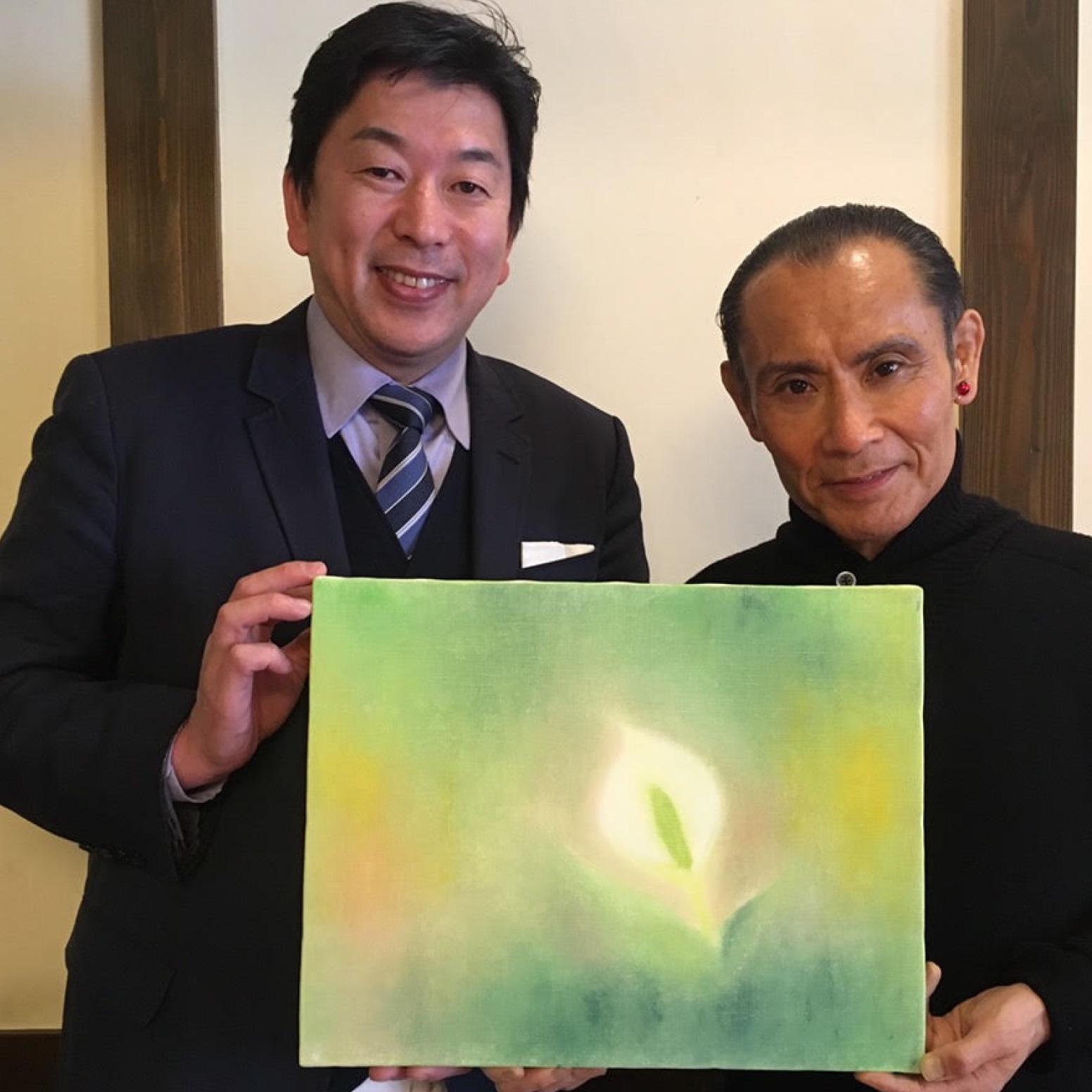 【日本酒】水芭蕉 Artist Series アーティストシリーズ  デザートサケ 2020 片岡鶴太郎<300ml>