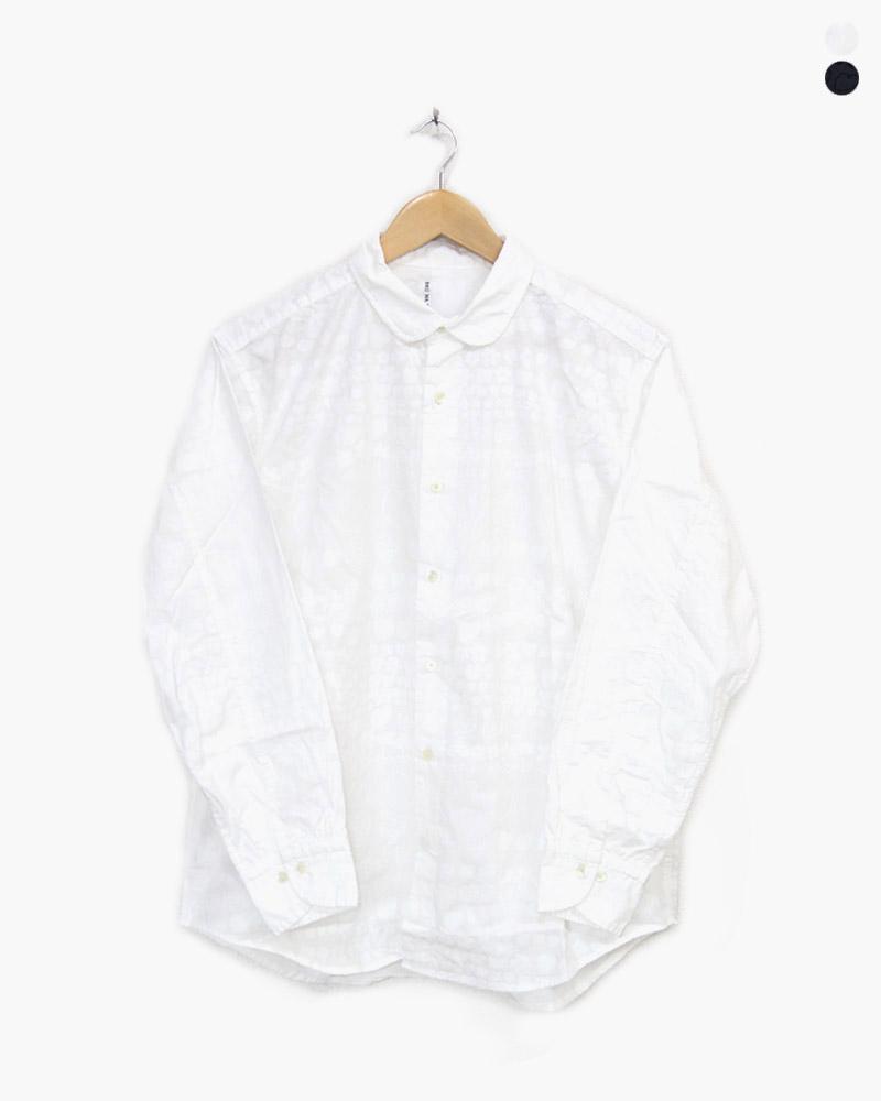 ブルーナボイン ルーラブーラシャツ 2号 01 ブラック ホワイト BRU NA BOINNE