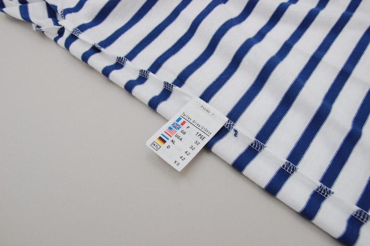 セントジェームス SAINT JAMES ピリアック 半袖 PIRIAC NEIGE/GITANE 白 青 ホワイト ブルー