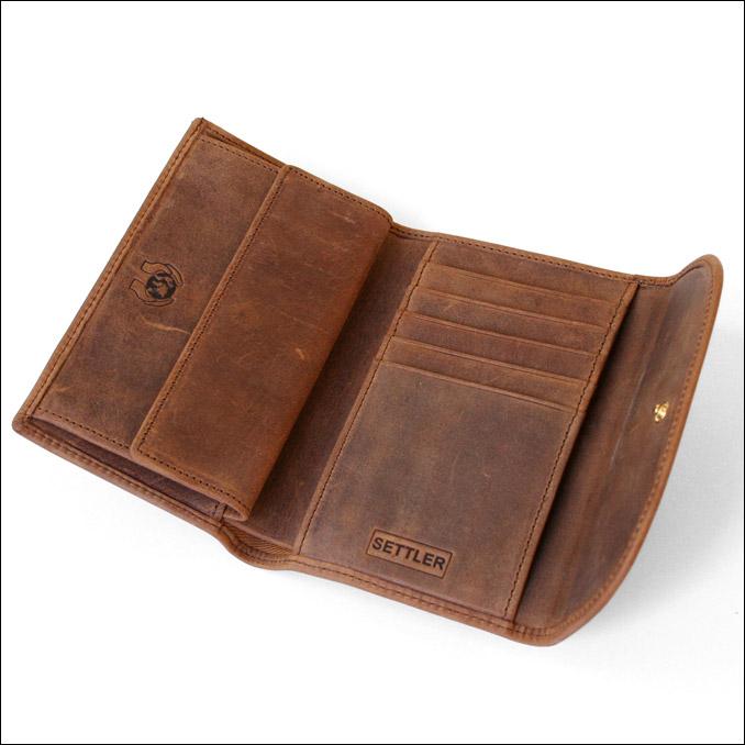 セトラー SETTLER レザー 財布 メンズ OW-1112 3FOLD PURSE WALLET ブラウン サイフ men's