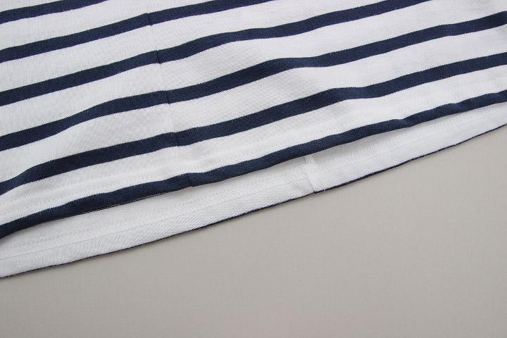 セントジェームス SAINT JAMES ピリアック 半袖 PIRIAC NEIGE/MARINE 白 紺 ホワイト ネイビー