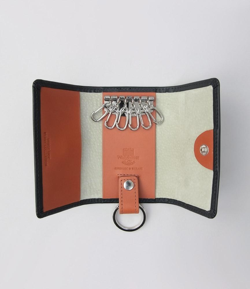 ホワイトハウスコックス ブラック/ブラウン/タン ダービーコレクション キーケースウィズリング WhitehouseCox S9692 KEYCASE WITH RING DERBY