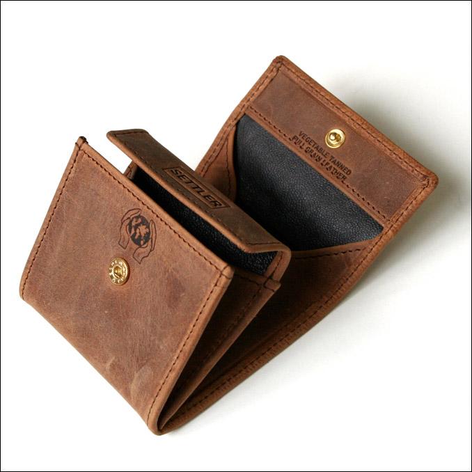 セトラー SETTLER メンズ レザー 財布 OW-890 COIN PURSE ブラウン サイフ men's