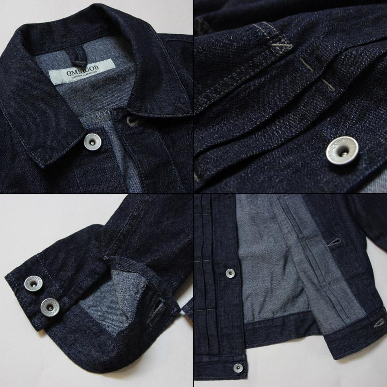 オムニゴッド レディース 7oz甘織りデニムショートジャケット OMNIGOD 58-0841E