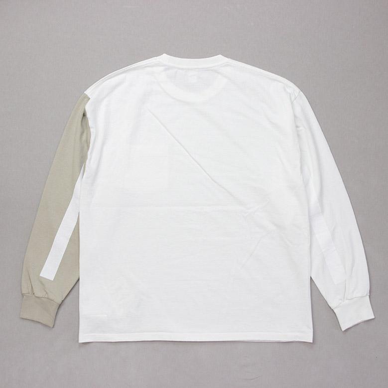キャプテンサンシャイン コットン ループウィール ジャージー Kaptain Sunshine U.S Cotton Loopwheel Jersey ホワイト/ベージュ KS20FCS13