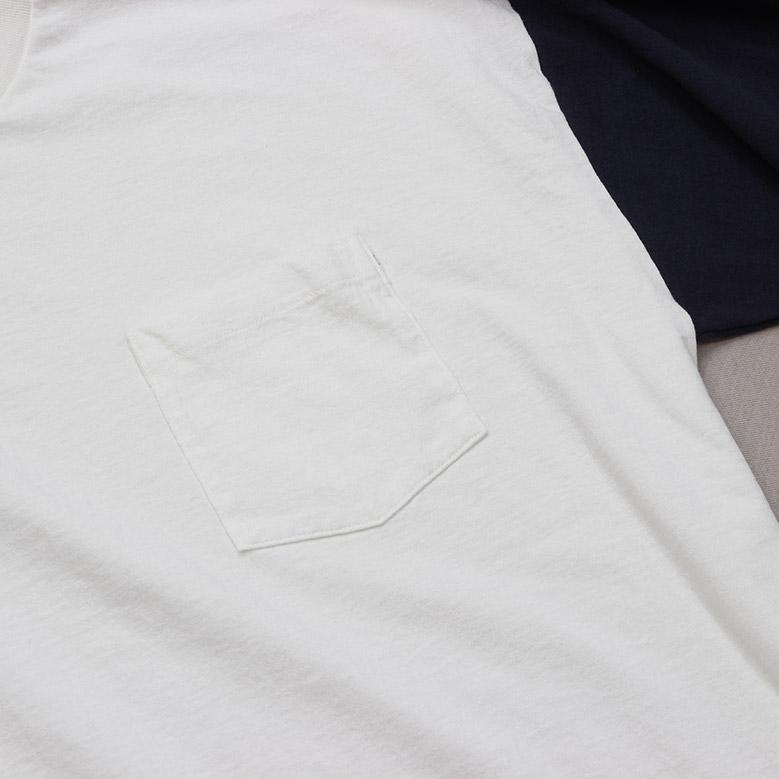 キャプテンサンシャイン コットン ループウィール ジャージー Kaptain Sunshine U.S Cotton Loopwheel Jersey ホワイト/ネイビー KS20FCS13