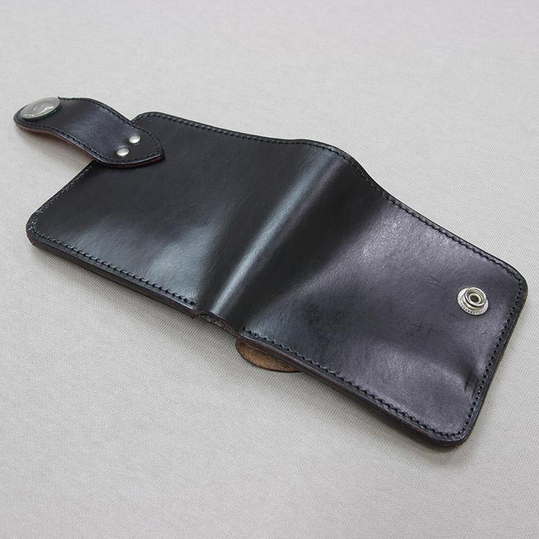 ブロンソンレザー 二つ折り財布 BRONSON LEATHER ブラック
