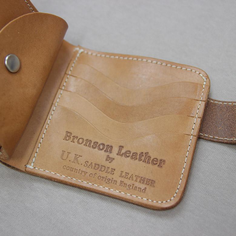 ブロンソンレザー 二つ折り財布 BRONSON LEATHER ナチュラル