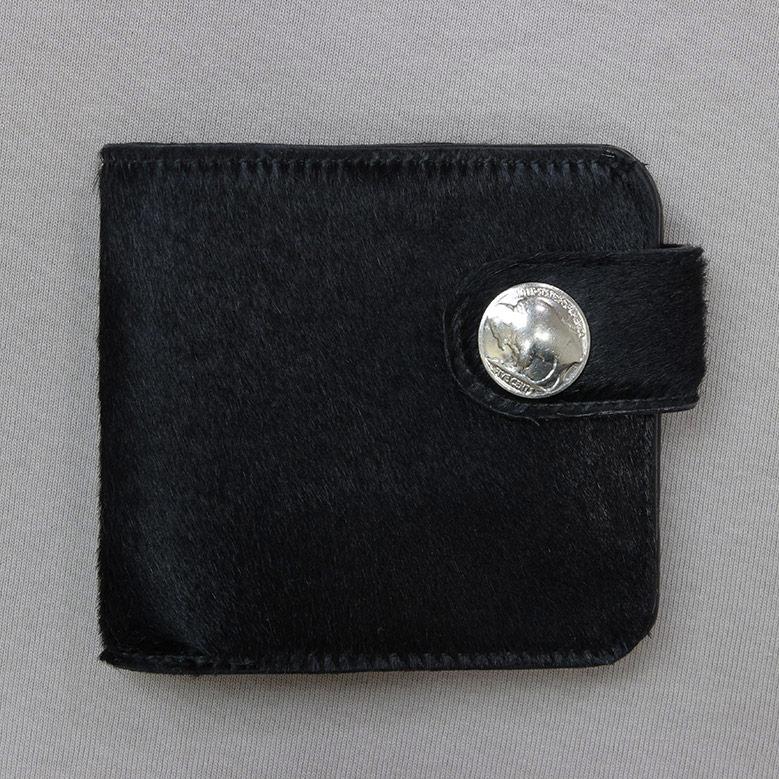 ブロンソンレザー 二つ折り財布 BRONSON LEATHER ハラコ