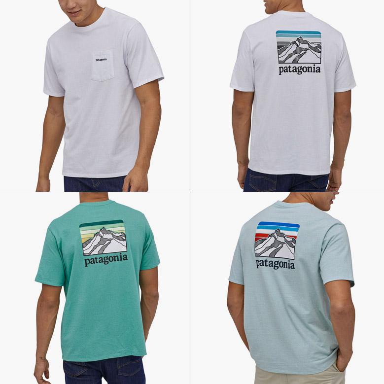 パタゴニア メンズ ライン ロゴ リッジ ポケット レスポンシビリティー patagonia Mens Line Logo Ridge Pocket Responsibili Tee 38511 2020春夏