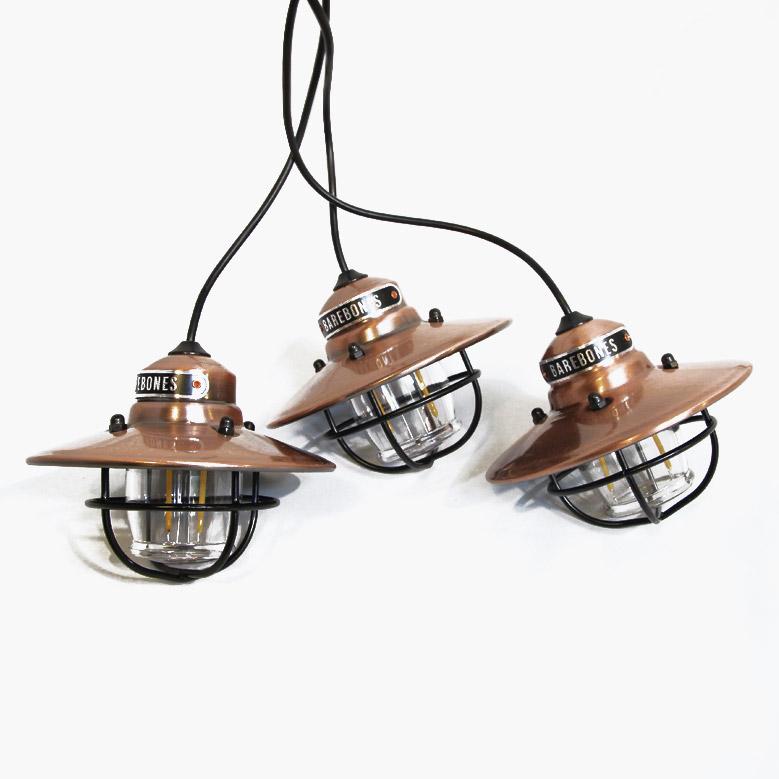 ベアボーンズリビング エジソンストリングライトLED Copper BAREBONES LIVING