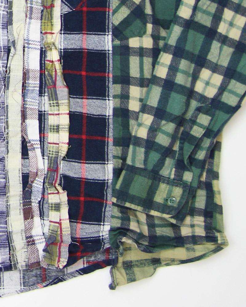 リビルドバイニードルス フランネルシャツ Rebuild by Needles Flannel Shirt - Ribbon Wide Shirt