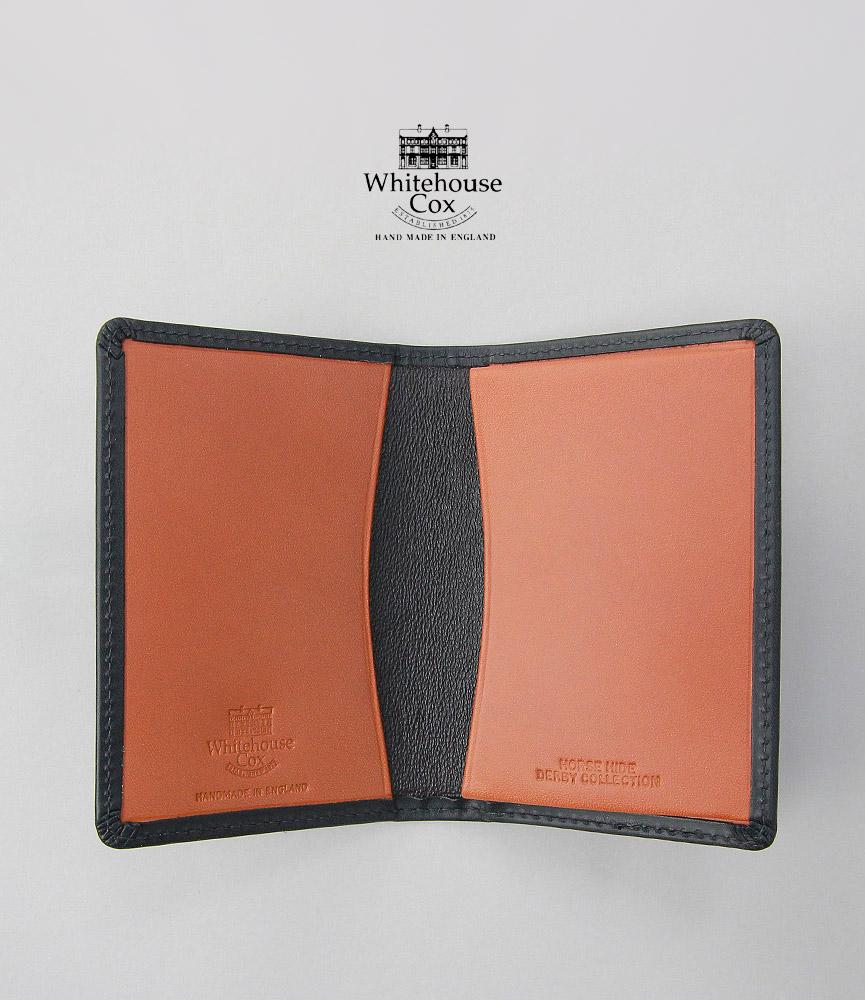 ホワイトハウスコックス ダービーコレクション 名刺入れ ブラック/タン WhitehouseCox S7412 NAME CARD CASE DERBY BLACK/TAN