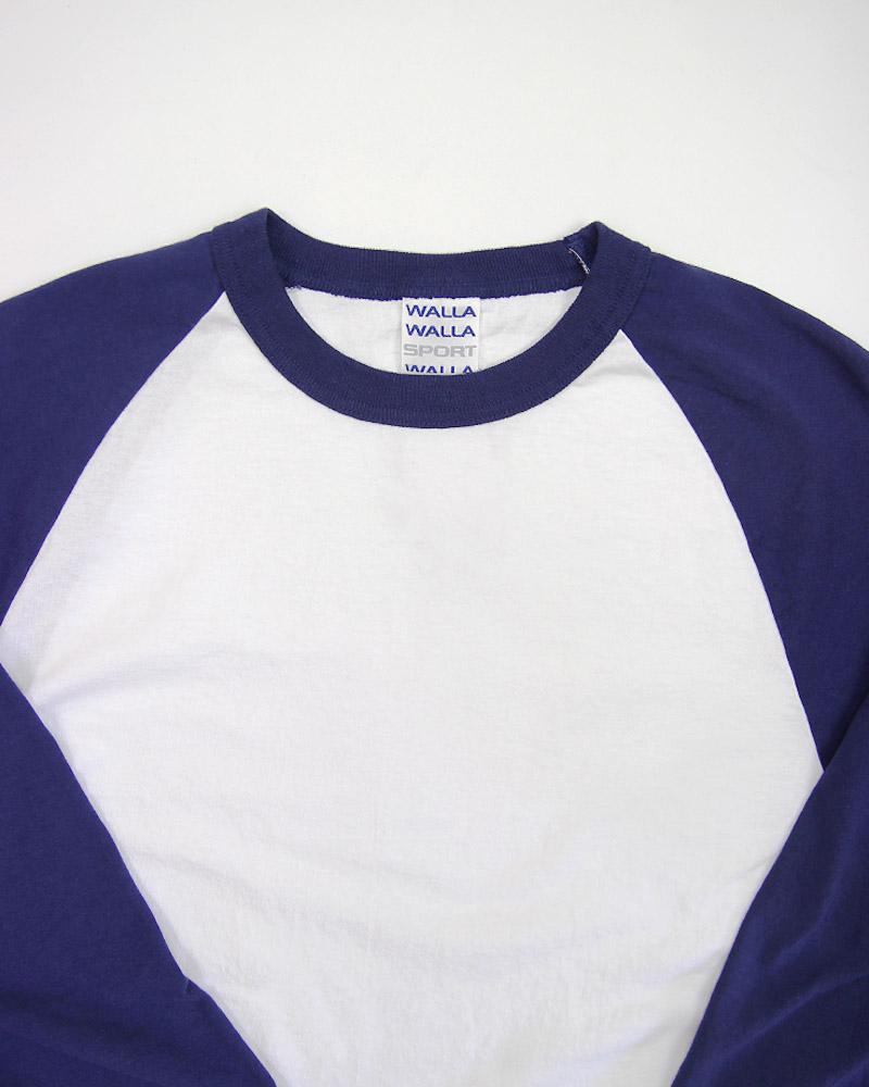 ワラワラスポーツ 3/4ベースボールTシャツ WALLA WALLA SPORT 3/4 BASEBALL TEE