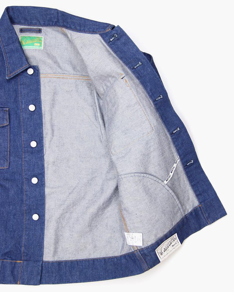 ウエストオーバーオールズ デニムトラックシャツ 858B WESTOVERALLS DENIM TRACK SHIRT
