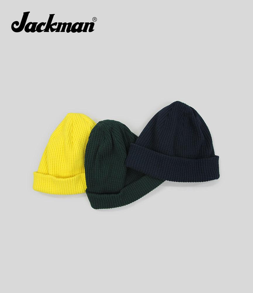 ジャックマン ワッフルニットキャップ Jackman Waffle Knit Cap JM6605