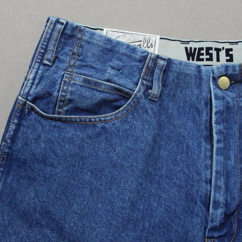 ウエストオーバーオールズ 818S デニムトラウザーズ WESTOVERALLS