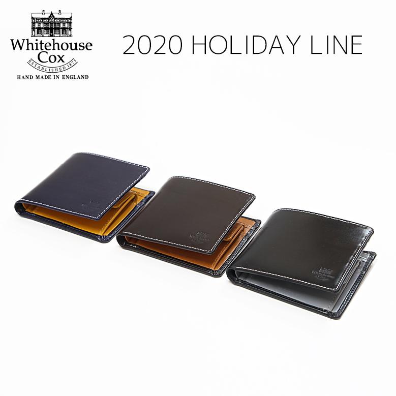 ホワイトハウスコックス 二つ折り財布 ホリデーライン 2020 Whitehouse Cox S7532 COIN WALLET Holiday Line 2020