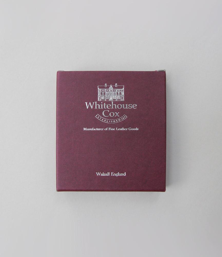 ホワイトハウスコックス ダービーコレクション 名刺入れ ネイビー/レッド WhitehouseCox S7412 NAME CARD CASE DERBY NAVY/RED