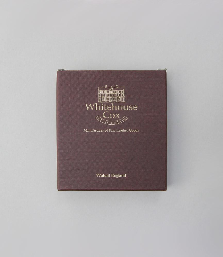 ホワイトハウスコックス 名刺入れ ブラック/ブラック ネイビー/ネイビー リージェントブライドル S7412 WhitehouseCox NAME CARD CASE REGENT BRIDLE