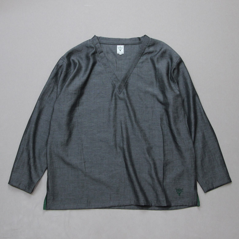 サウスツーウエストエイト サイドスリットVネックシャツ South2West8 Side Slit V Neck Shirt