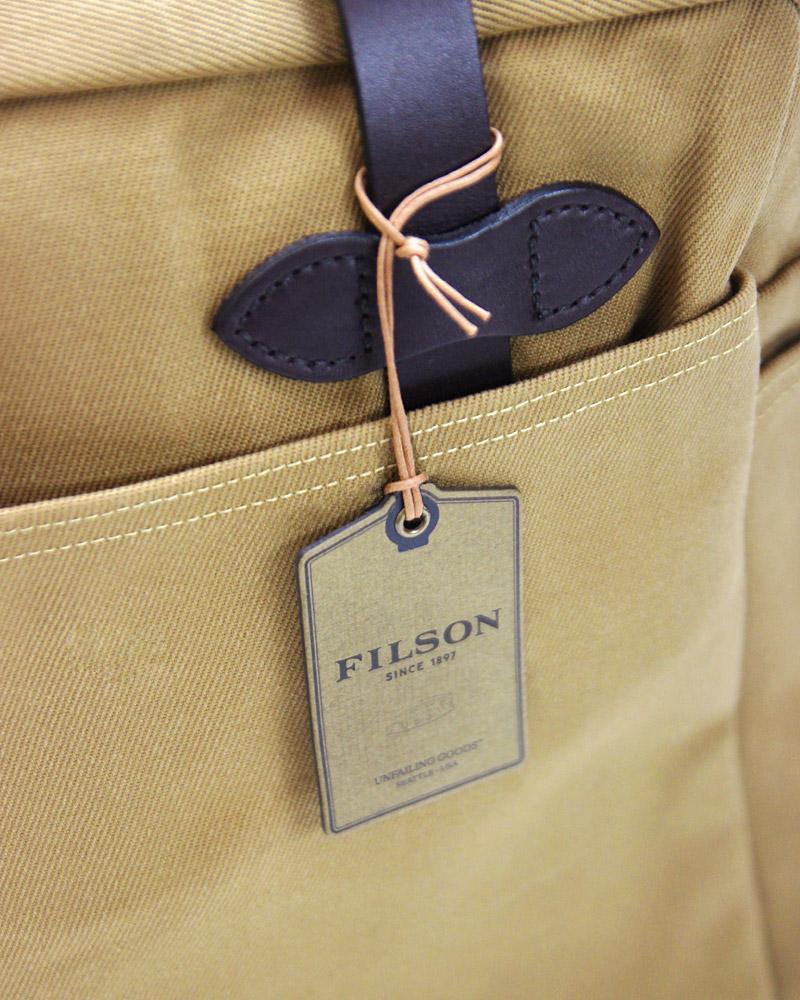 フィルソン ラギッドツィル トートバッグ ウィズ ジッパー FILSON RUGGED TWILL TOTE BAG WITH ZIPPER #70261