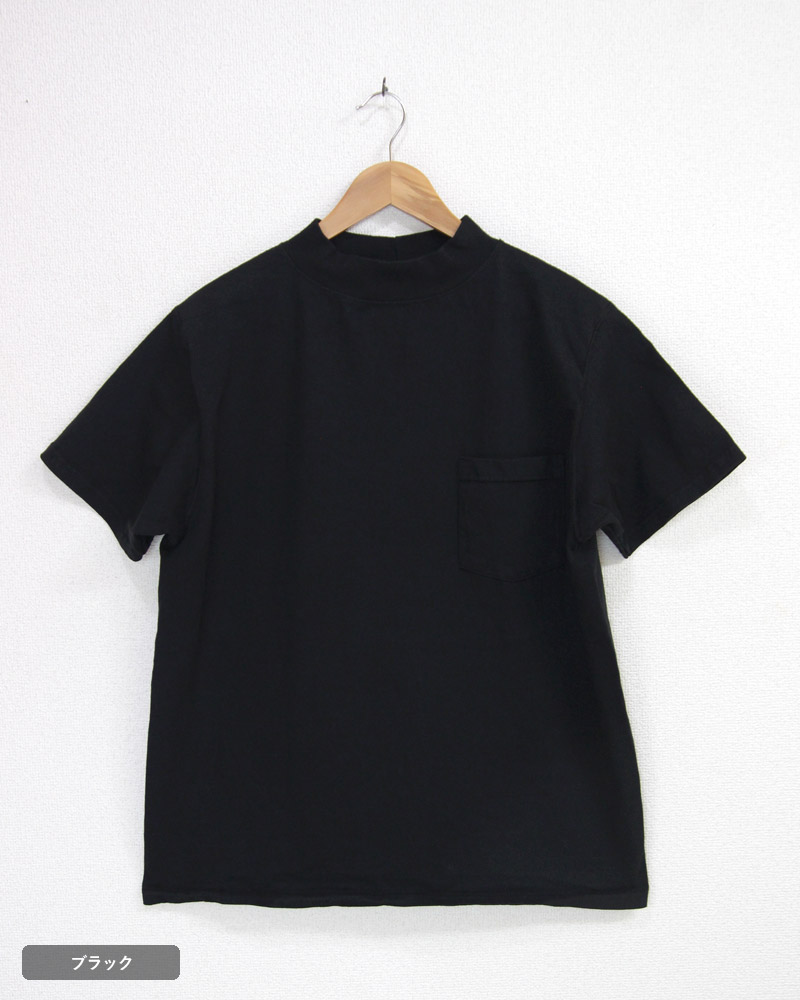 グッドウェア モックネックポケットTシャツ GOODWEAR Mock Neck Pocket Tee